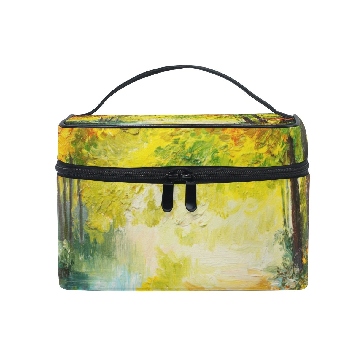 Cosmetic Bag Colorful Autumn Forest Oil San Antonio Mall Landscape Women Painting Our shop OFFers the best service