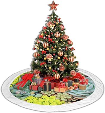 """Succulent Plant Potting White Fluffy Christmas Tree Skir 36"""",The Perfect 3 Kinds of Size"""