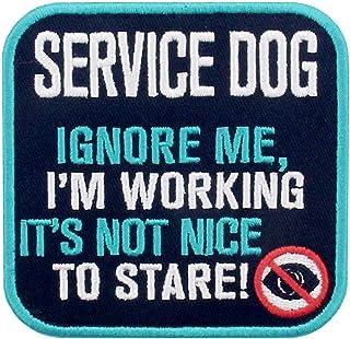 Service Dog Vests/Harnesses Emblem Embroidered Fastener Hook & Loop Patch