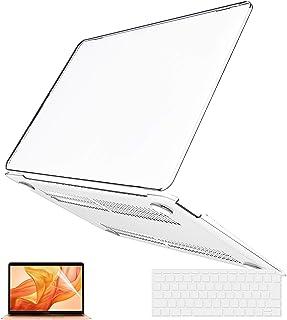 Belk MacBook Air 13 2018 ケース [キーボードカバー+液晶保護フィルム+Mac Air13 retina タッチ ID搭載 カバー](モデル:A1932)(クリア)