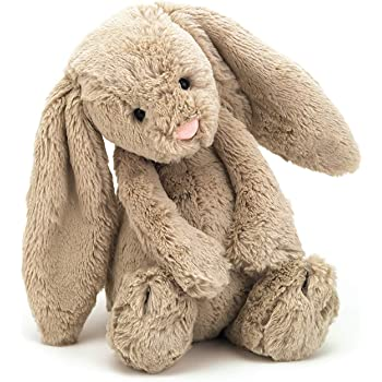 Jellycat Bashful Beige Bunny Stuffed Animal, Medium, 12 inches