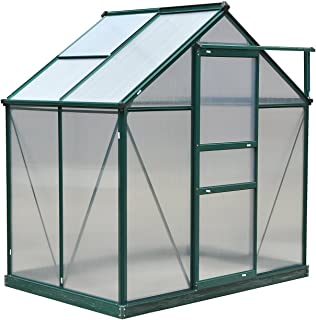 Outsunny 6'L x 4'W x 7'H Polycarbonate Walk-In Garden Greenhouse