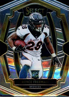 2018 Select Football #144 Royce Freeman Denver Broncos Premier Level RC Rookie Card Official NFL Trading Card From Panini