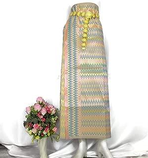 Myanmar Traditional Fashion Fabric for Clothing Dress Long longyi Skirt LY15