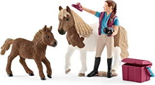 Schleich Stablehand with Shetland Ponies Playset