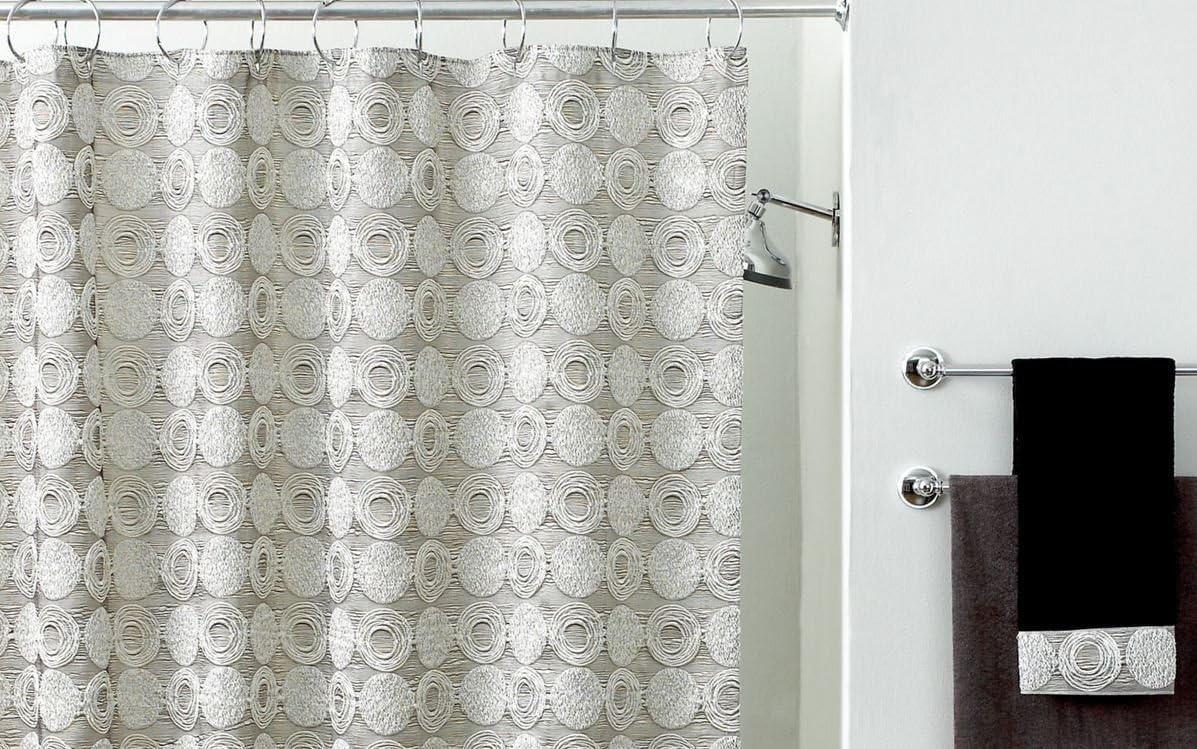 Avanti Linens Galaxy Cheap bargain Collection Curtain Shower Silver Austin Mall