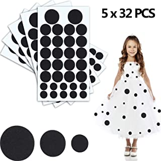 160 Pieces Black Adhesive Felt Circles Felt Pads for Halloween DIY Projects Costume 1.97 Inches/ 1.50 Inches/ 0.98 Inches