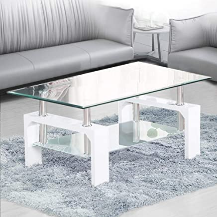 Amazon Co Uk White Coffee Tables Tables Home Kitchen