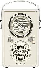 Crosley CR3034A-WS Mockingbird Vintage Portable Am/FM/Bluetooth Radio, White Sand