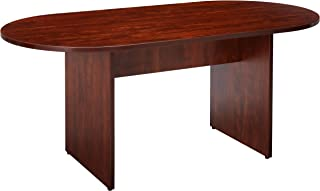Lorell Oval Conference Table, Top and Base, 72 by 36 by 29-1/2-Inch, Cherry