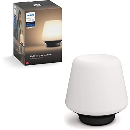Philips Hue White Ambiance Wellness Dimmable LED Smart Table Lamp (Works with Alexa Apple HomeKit and Google Assistant)