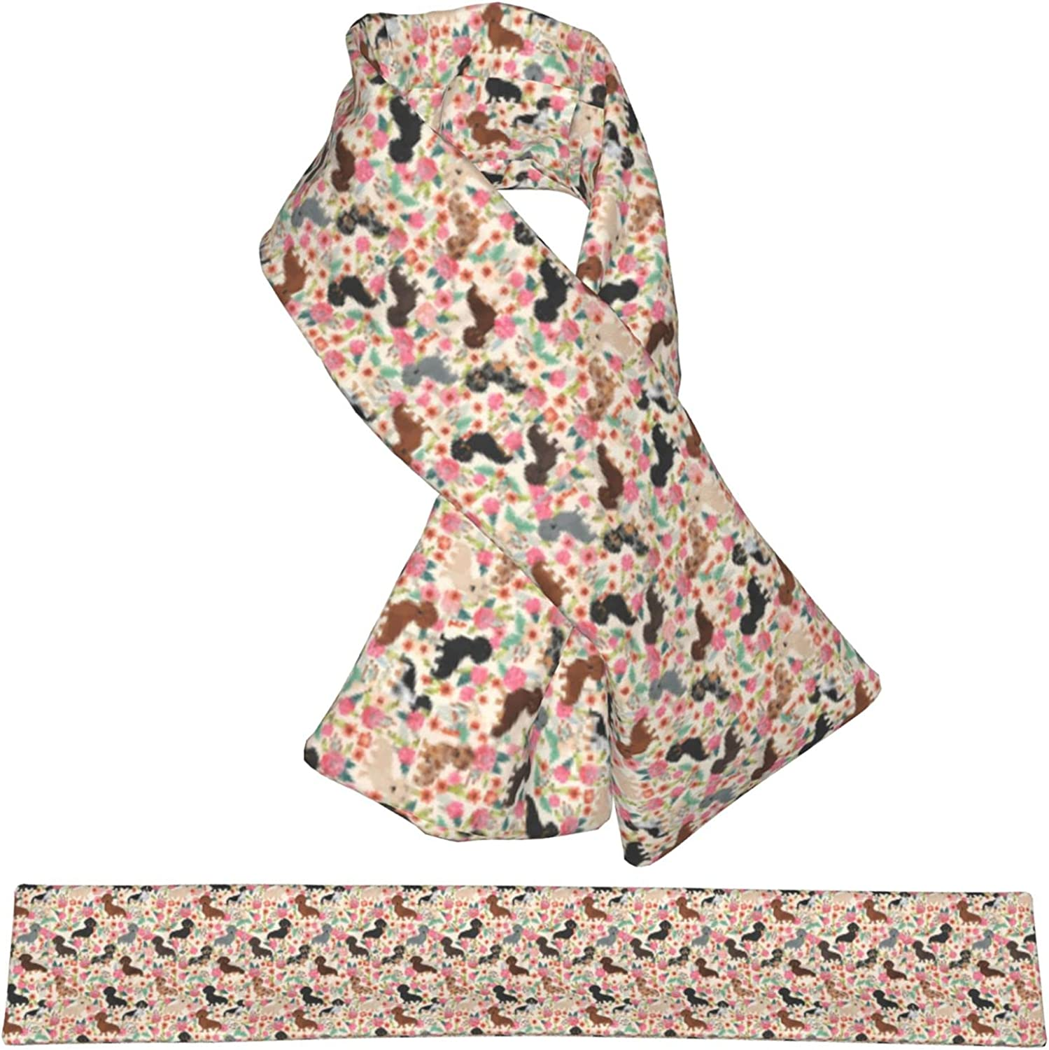 Dog And Limited time sale Flower Plush outlet Scarf Double-Sided Warm Child