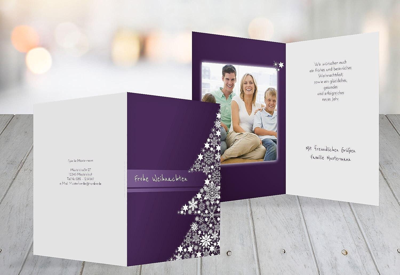 Kartenparadies Grußkarte Weihnachten Foto Grußkarte Sternenbaum, hochwertige Weihnachtsgrüße Weihnachtsgrüße Weihnachtsgrüße als Weihnachtskarte (Format  105x148 mm) Farbe  Liladunkel B01N33C0D3  | Hochwertige Produkte  78617e