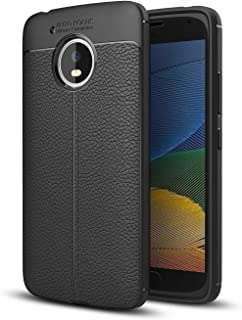 DEVMO Compatible with Motorola Moto G5 TPU Bionic Leather Gel Rubber Full Body Protection Shockproof Cover Case Drop Prote...