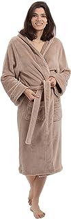 Lumaland Peignoir de Luxe en Microfibre avec Capuche - Pour Femme et Homme – Disponible en Différentes Tailles et Couleurs