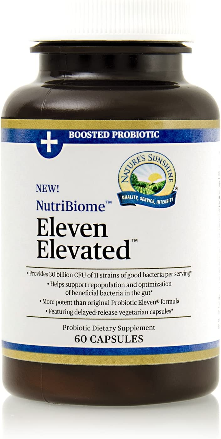 Nature's Sunshine Probiotic Max 41% OFF Eleven Poten Elevated 60 Capsules Seattle Mall