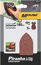 Piranha Mouse schuurpapier, korrel 180 (fijn gekorreld, met klittenband Fix, 5 stuks, geschikt voor compacte muis) X31014