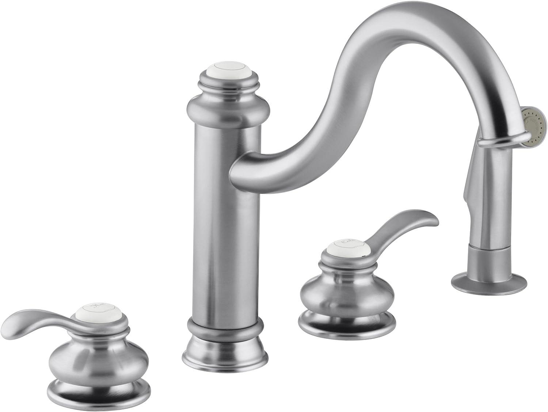 Kohler K 12231 G Fairfax High Spout Kitchen Sink Faucet Brushed Chrome Touch On Kitchen Sink Faucets Amazon Com