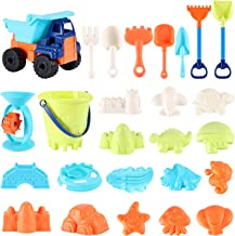Beach Sand Toys For Kids - 26 PCS Sand Castle Toys for Beach, Snow Toys Sandbox Toys with Truck, Water Wheel, Sand Bucket ...