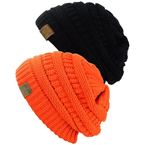 80d708086b8 C.C Trendy Warm Chunky Soft Stretch Cable Knit Beanie Skully