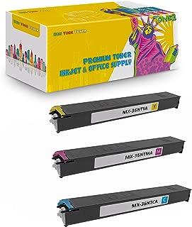 New York TonerTM New Compatible 3 Pack MX-36NTCA MX-36NTMA MX-36NTYA High Yield Toner for Sharp - MX 2610   2610N   2615   2640N   3110N   3115N   3140N   3610N . -- Cyan Yellow Magenta