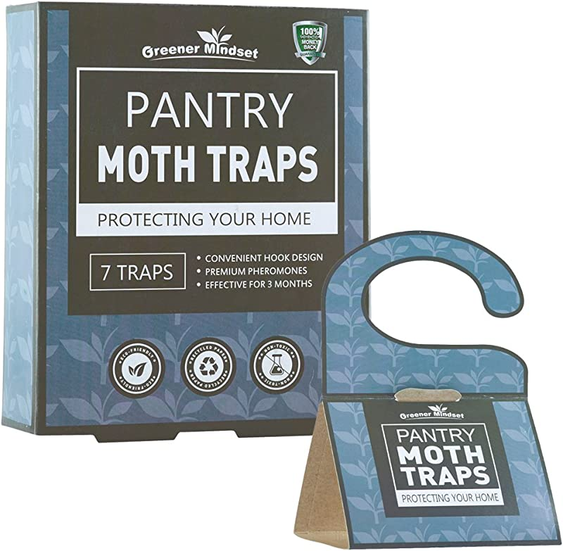 Greener Mindset Pantry Moth Traps 7 Pack With Premium Pheromone Attractant Most Effective Trap Available Non Toxic Safe No Insecticides