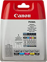 Canon 2078C005 Ink Cartridge - Pigment Black/Cyan/Magenta/Yellow/Black