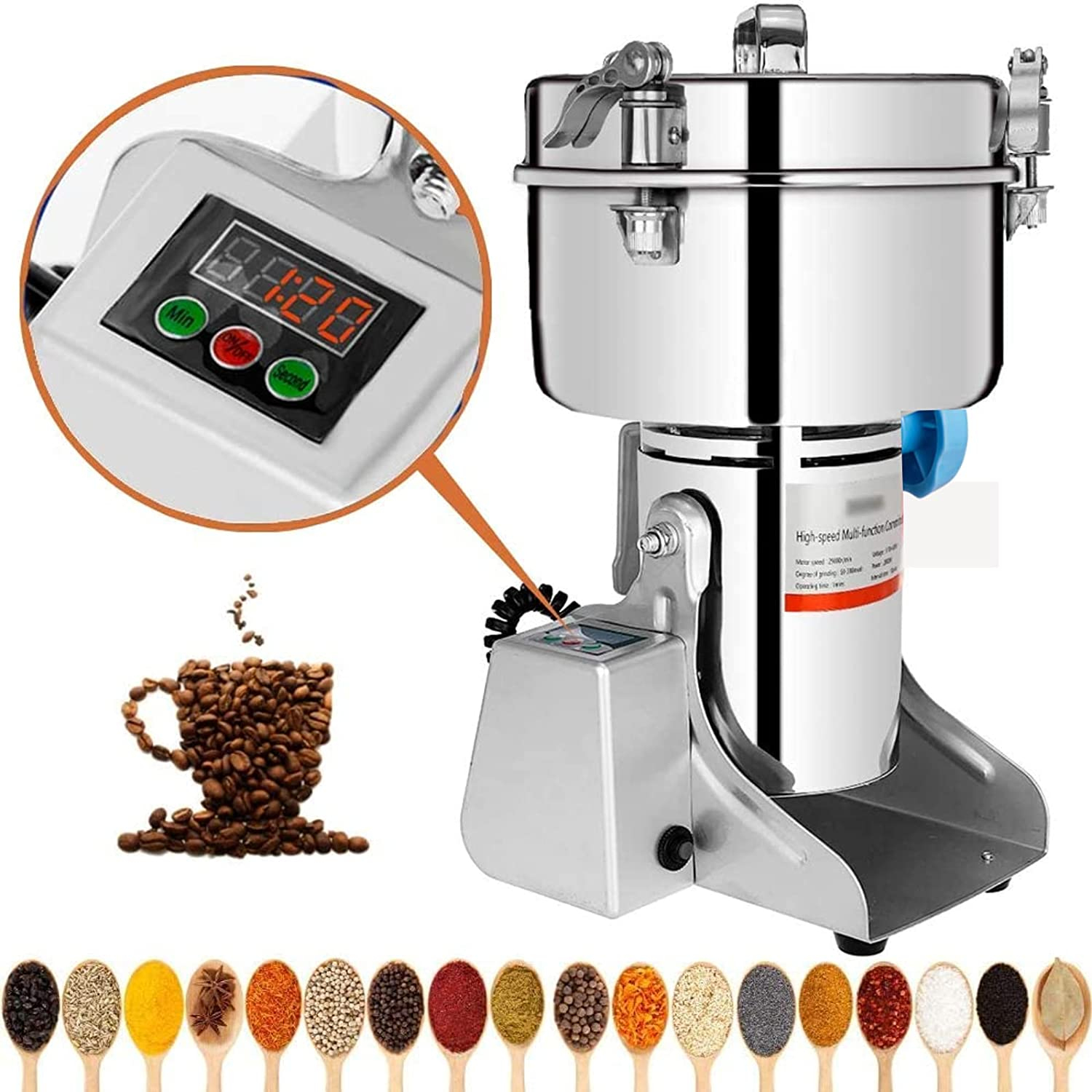 Marada 500g Ranking TOP13 Electric Mill Grinder Steel Stainless 110V Pulverize New product