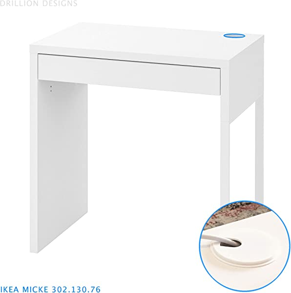 IKEA Micke Desk Grommet Furniture Hole Cover White