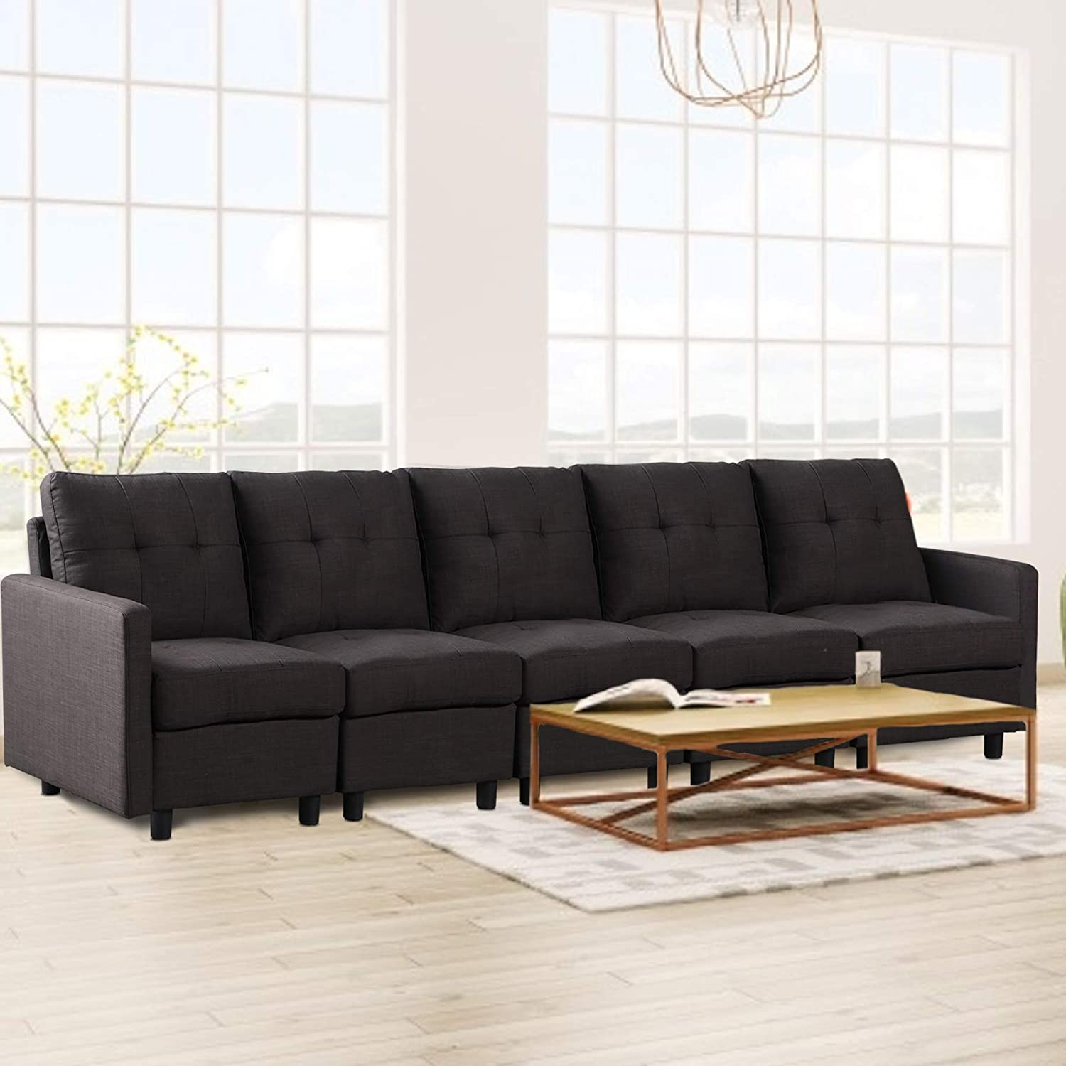 DAZONE Modular Fort Worth Mall Sectional Sofa 5-Piece Assemble OFFicial store