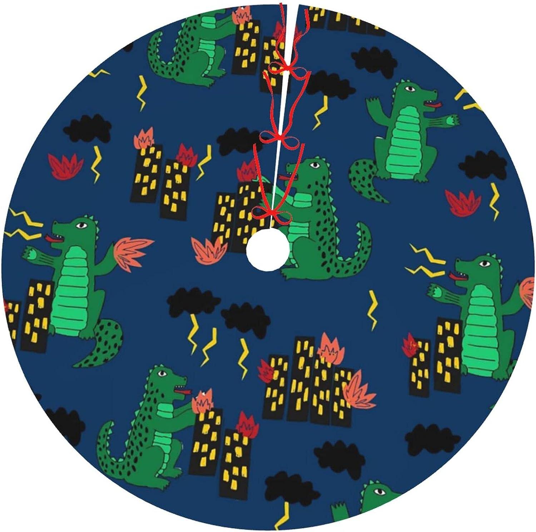 Christmas Tree Skirt Choice 30 inch Navy Movie Godzilla Patt Blue Miami Mall Scary