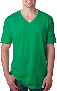 Next Level Mens Premium Fitted Short-Sleeve V-Neck Tee. 3200 Kelly Green XL