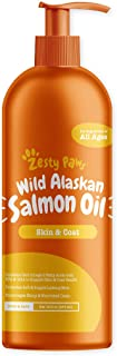 Zesty Paws Pure Wild Alaskan Salmon Oil for Dogs & Cats - Supports Joint Function, Immune & Heart Health - Omega 3 Liquid ...