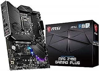 MSI MPG Z490 GAMING PLUS ATX Gaming Mainboard (10. Generation Intel Core, LGA 1200 Sockel, DDR4, CF, zwei M.2 Steckplätze, USB 3.2 Gen 2, 2.5G LAN, DP/HDMI, Mystic Light RGB)