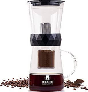 Dripster 2-In-1 Cold Brew Dripper - Cold Brew Coffee Maker - Iced Coffee Maker for Camping- Cold Coffee Brewer and Ice Tea Maker - 600ml / 4 Cup Coffee Maker for Cold Brew Coffee and Tea by Dripdrip
