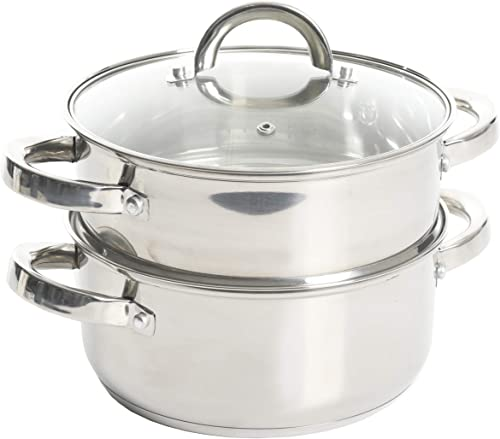 Oster-Dutch-Oven-w/Steamer-Basket-Stainless-Steel-Cookware