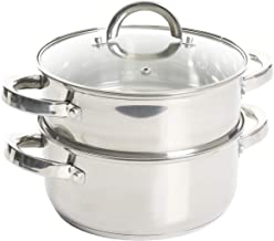 Oster Sangerfield Stainless Steel Cookware, 3.0-Quart Casserole Set w/Steamer Basket