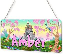 Fairytale Castle Personalised Childs Bedroom Door Sign Name Plaque