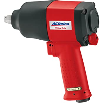 "ACDelco BLOW-OUT OFFER! Heavy Duty Twin Hammer 1/2"" Air Impact Wrench with Composite Body and Comfort Grip, ANI402"