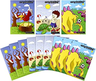 """Craytastic! Bulk Coloring Books for Kids Variety Assortment, Pack of 12 (5"""" x 7"""" Each)"""