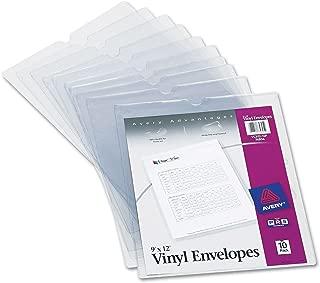 Avery 74804 Top-Load Clear Vinyl Envelopes w/Thumb Notch, 9