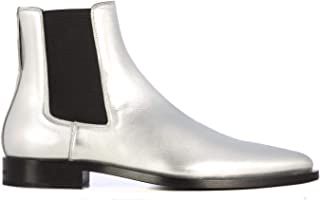 GIVENCHY Men's BH6016H0EC040 Silver Leather Ankle Boots