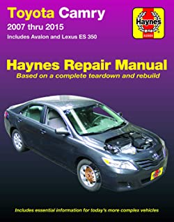 Toyota Camry & Avalon & Lexus ES 350 (07-15) Haynes Repair Manual (Does not include information specific to hybrid models. Includes thorough vehicle ... exclusion noted. ) (Haynes Automotive)