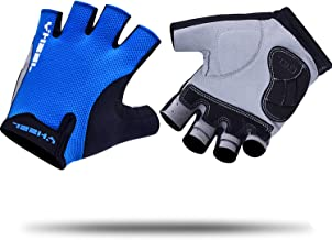 YHEEL Mountain Bike Gloves, Breathable Half Finger Cycling Gloves with Shock-Absorbing Gel Pad, Specialized Road Bicycle/M...