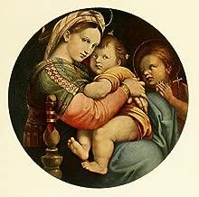 Posterazzi Handbuch der Kunstgeschichte 1912 Madonna della Sedia Poster Print by Raphael (24 x 36)