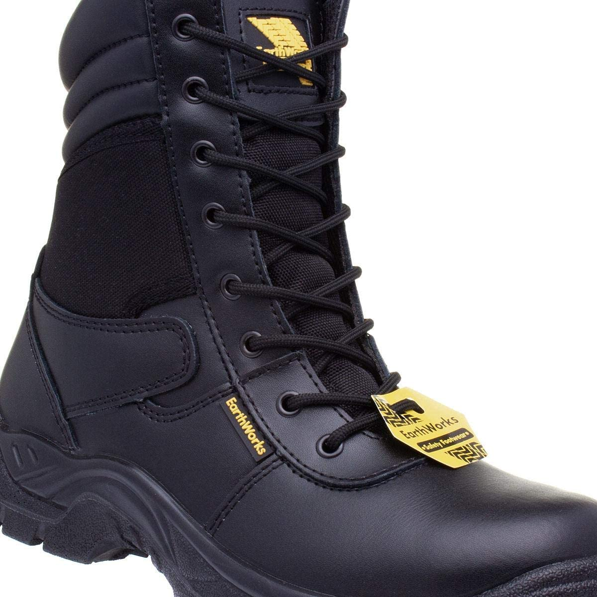 Earth Works Safety Earth Works Mens Black Lace Up Ankle Safety Boot