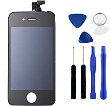 Black iPhone 4 LCD Touch Screen Digitizer Glass Replacement Full Assembly with Repair kit