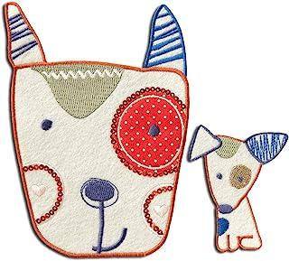 Set perro niños - Parches termoadhesivos bordados aplique para ropa