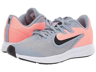 Nike Kids Downshifter 9 (Big Kid) (Obsidian Mist/Black/Lava Glow/White) Girls Shoes