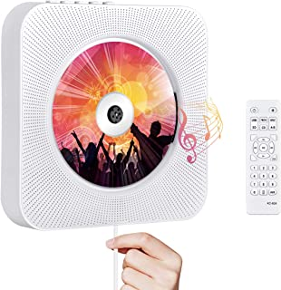 Portable CD Player with Bluetooth, Qoosea Wall Mountable CD Players Music Player Home Audio Boombox with Remote Control FM...